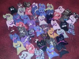 textilné mačičky II